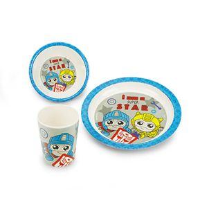 Set-de-vajilla-en-melamine-Libre-de-BPA-para-niNos-color-blanco