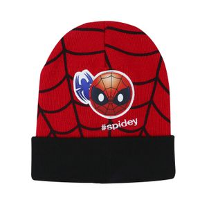 Gorro-de-invierno-abrigador-Spiderman-Emoji-para-niNos-color-rojo-negro