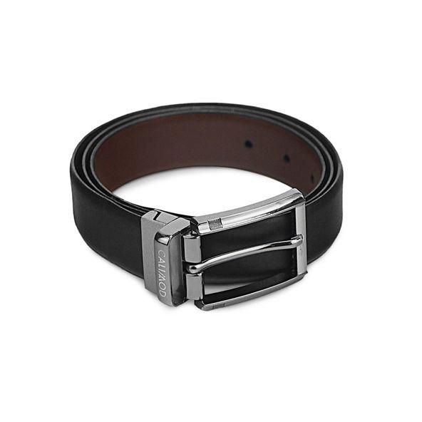 Correa-reversible-de-vestir-de-cuero-liso-para-caballero-color-negro-cristal