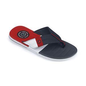 Sandalia-flip-flop-con-planta-confort-para-caballero-color-azul-rojo