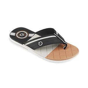 Sandalia-flip-flop-con-planta-confort-para-caballero-color-negro-marron