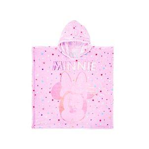Poncho-con-capucha-de-suave-material-textil-para-niNas-color-rosado