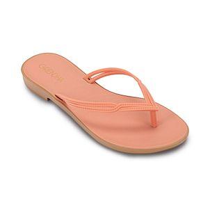 Sandalia-flip-flop-con-detalles-en-la-tira-para-mujer-color-naranja