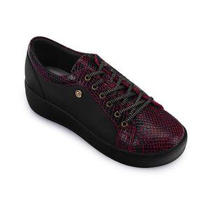 Zapatilla-de-cuero-animal-print-color-rojo