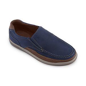 Zapato-mocasin-con-talon-acolchado-para-hombre-color-azul